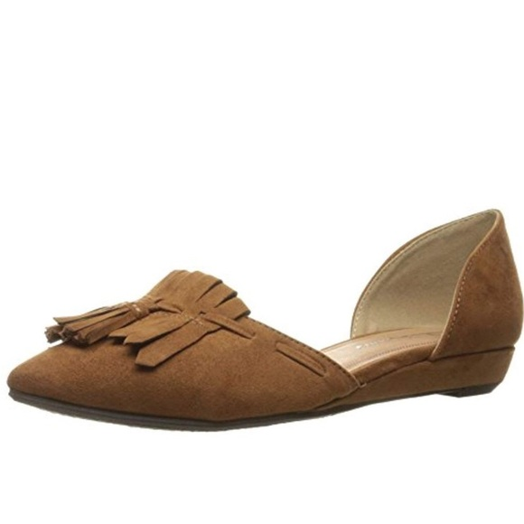 Chinese Laundry Shoes - CL by Laundry Brown Seline Tassel D'Orsay Flat